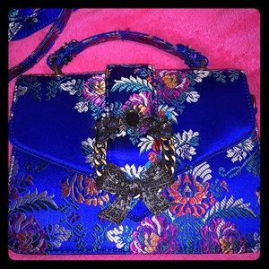 Beautiful ALDO blue floral purse